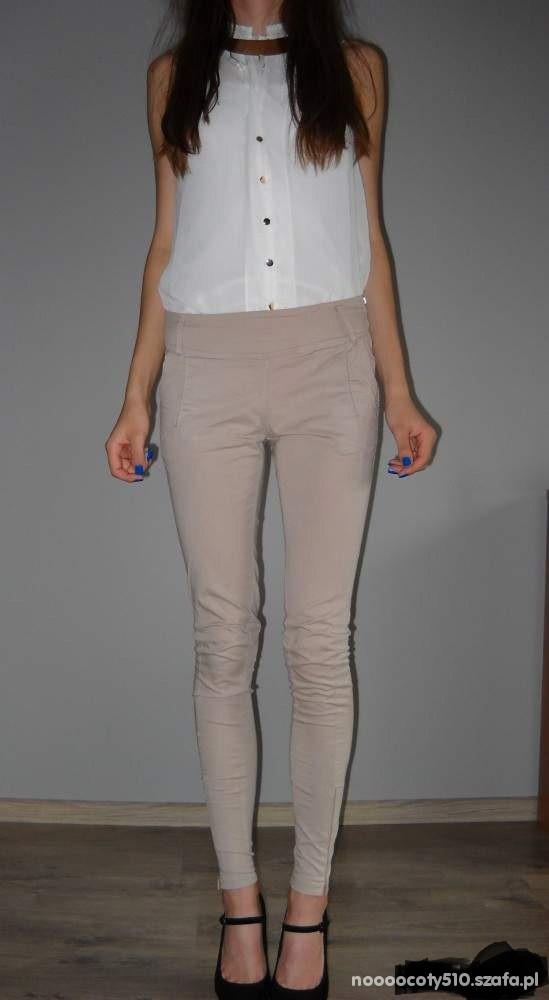Spodnie Spodnie waskie mega
