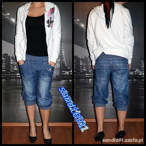 Spodnie boyfriendy baggy ze ściągaczami M XL