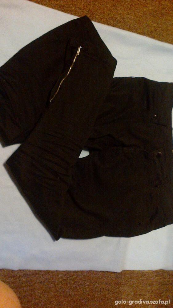 Spodnie Spodnie Stradivarius New Rock czarne zip