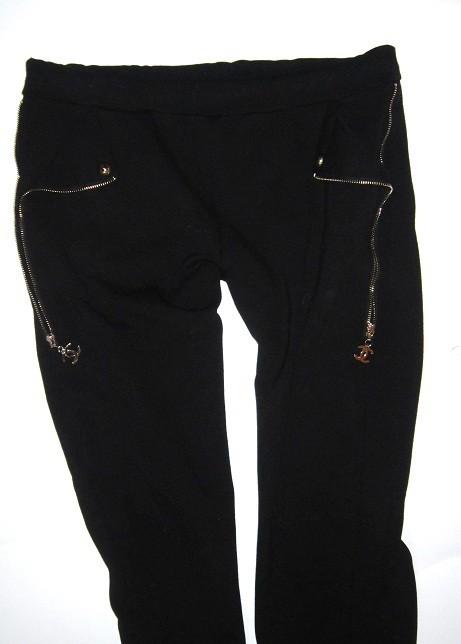 Spodnie chanel czarne