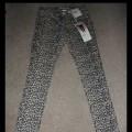 Spodnie rurki panterka XS