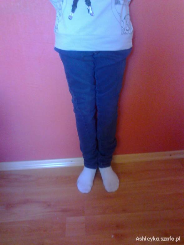 Spodnie RURKI NIEBIESKIE GRANATOWE