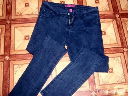 Spodnie super rurki skinny stan idealny