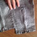 Nowe metaliczne zipp Tanio H&M