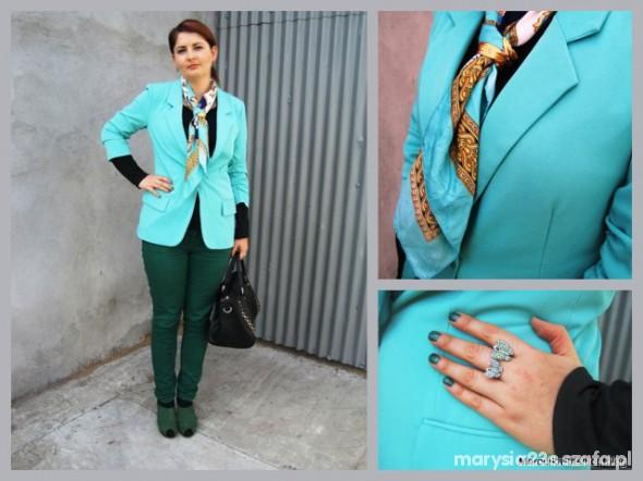 Mój styl jasna mięta i ciemna zieleń by Marcelka Fashion