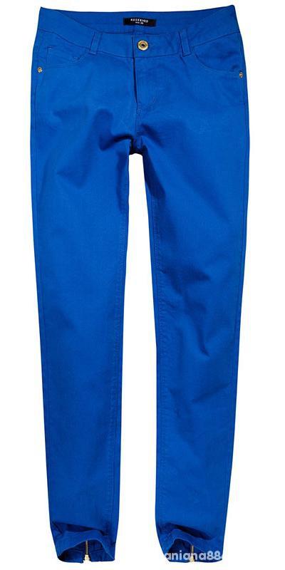 Spodnie Chabrowe Rurki Z Zipami