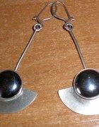 WARMET niezwykłe wahadła z hematytem srebro 925
