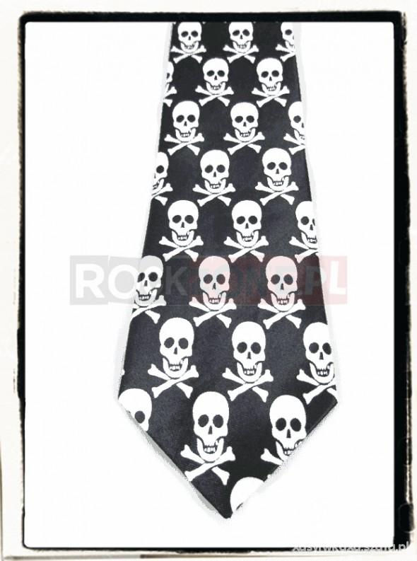 Pozostałe Krawat w czaszki
