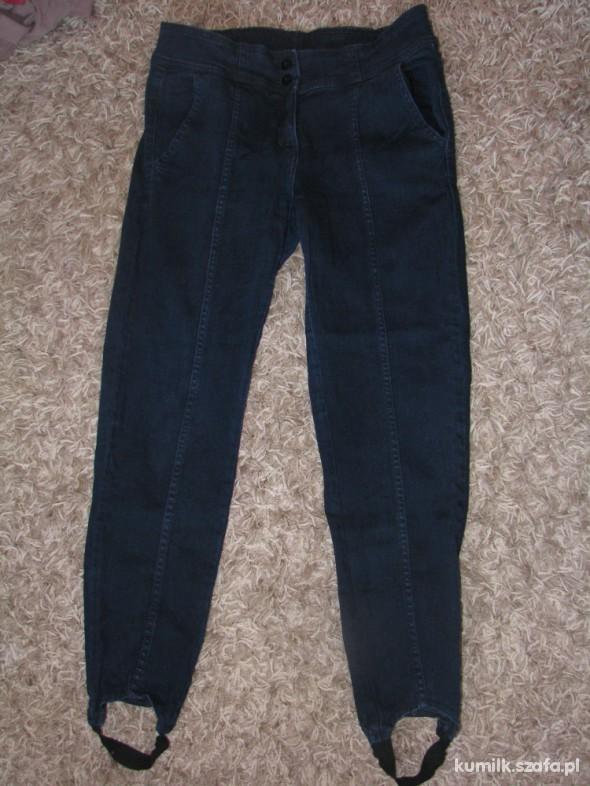 Spodnie granatowe dżinsy