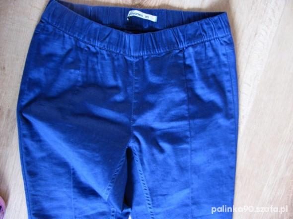 Spodnie jegginsy granatowe xs