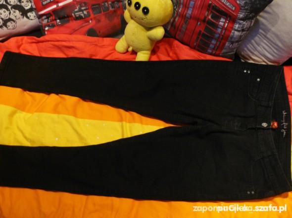 Spodnie CENA Z PRZESYŁKĄ CZARNE JEANSY RURKI 42 XL