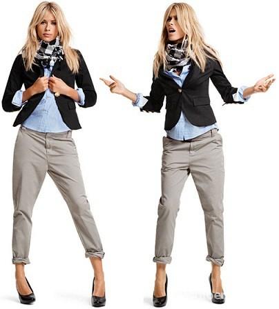 Spodnie chinosy cygaretki Vero Moda