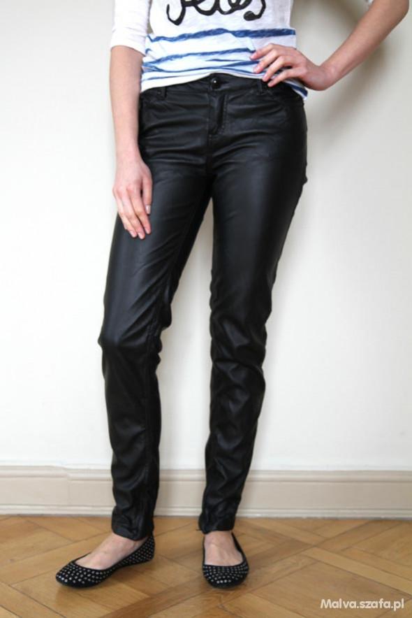 Skórzane spodnie Bershka 38 M