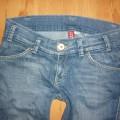 DIVIDED RED H&M spodnie jeansowe biodrówki 40