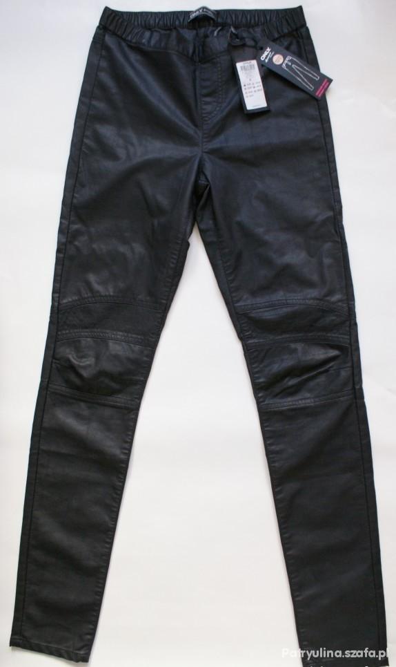 Spodnie skórzane rurki firmy only xs