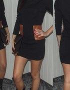 sukienka czarna z kieszeniami M