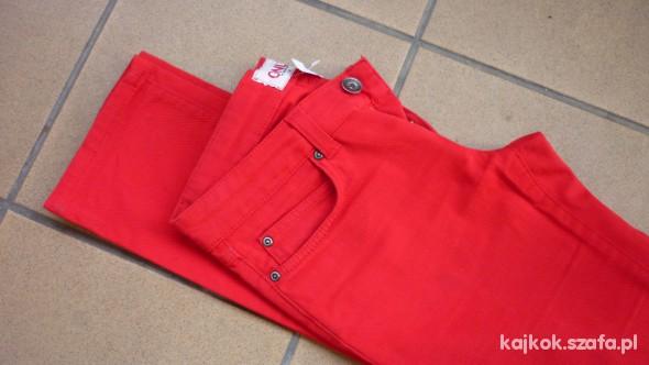 Spodnie Czerwone rurki