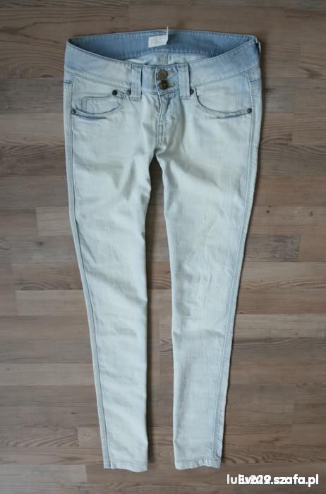 Spodnie 25zl z wysylka Rurki Biodrowki Gina Tricot S M