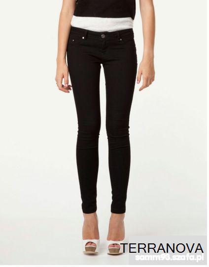 Spodnie Czarne Rurki 36