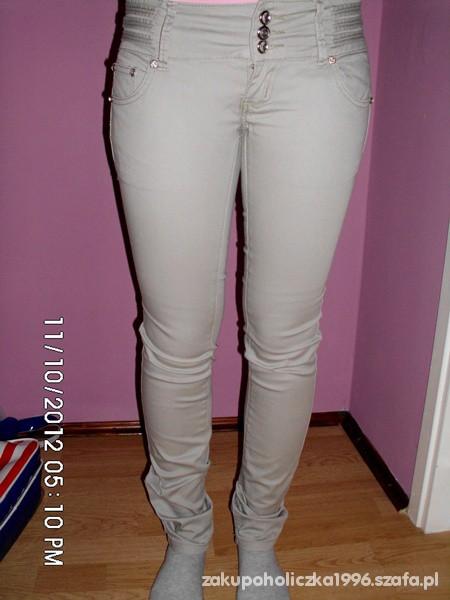 Spodnie Spodnie nude idealnie dopasowane
