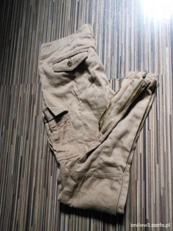 Spodnie rureczki bojowki ZIP
