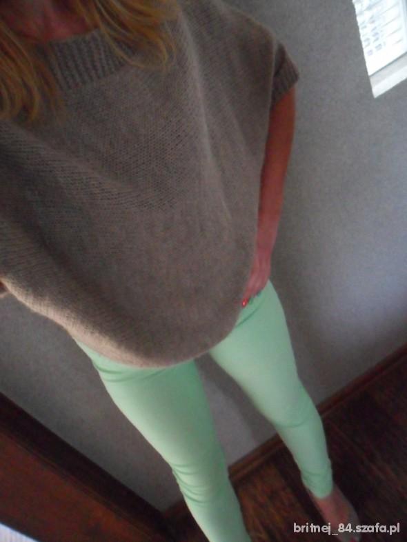 Spodnie Miętowe tregginsy rurki S