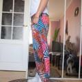 Spodnie w kolorowe palmy baggy House rozm L