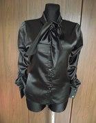 Czarna satynowa koszula 38 40