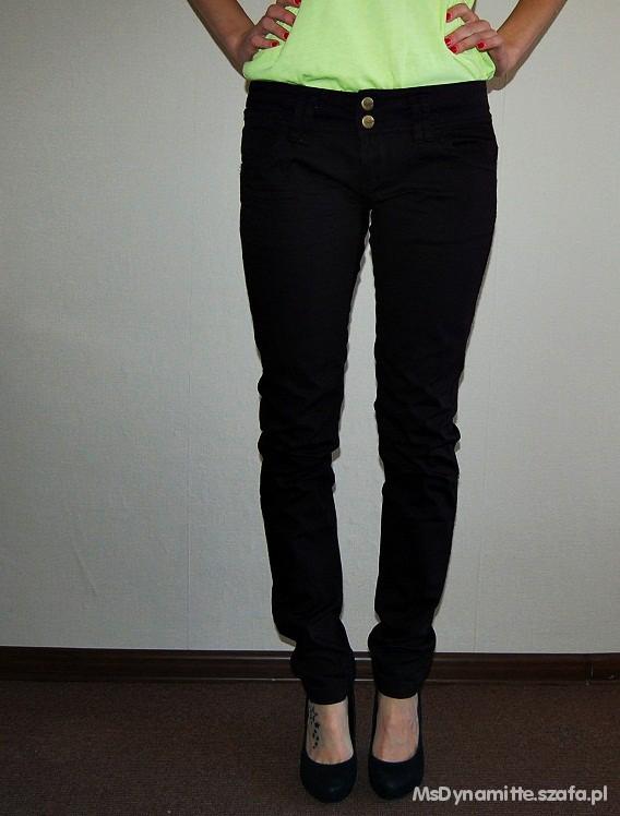 Spodnie Czarne spodnie Cropp