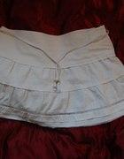 Biała spódniczka mini Terranova rozmiar M...