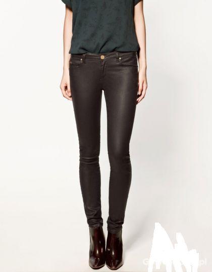 Spodnie Spodnie czarne ZARA rurki