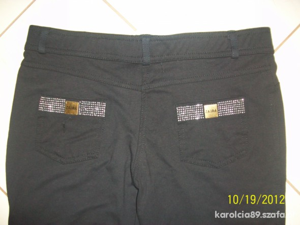 Spodnie SPODNIE LEGGINSY CZARNE XL