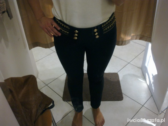 Spodnie złote marynarskie