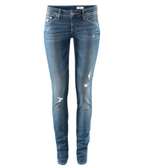 Spodnie RURKI DESTROYED H&M M L DZIURY VINTAGE