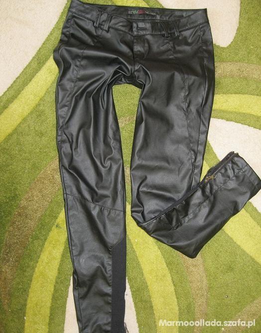 Spodnie ZARA a la skóra
