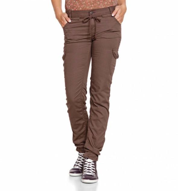 Spodnie Brązowe z kieszeniami L XL