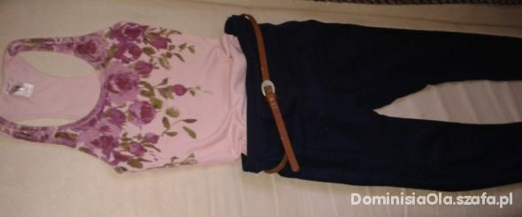 Spodnie spodnie z wysokim stanem H&M