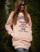 bluza blogerska bluza różowa bluza sportowa