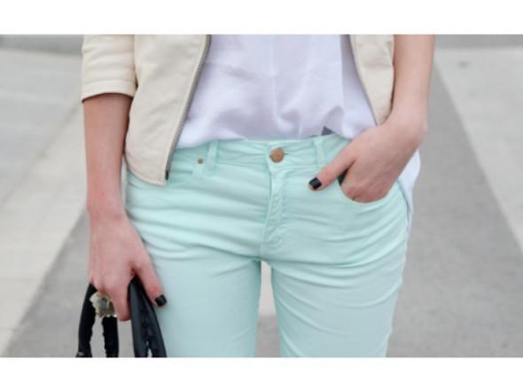 Spodnie Miętowe rurki H&M