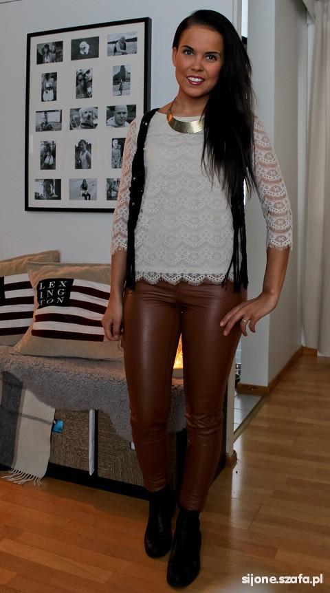 Spodnie Spodnie rurki tregginsy H&M rozmiar 36 S