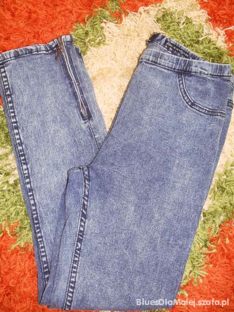 Spodnie Marmurki tregginsy z suwaczkami