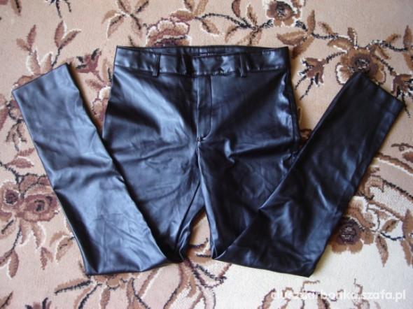 Spodnie Spodnie skóra ZIP rurki
