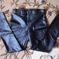 Spodnie skóra ZIP rurki