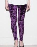 welurowe śliwkowe legginsy HIT 2012