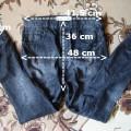Spodnie boyfriend baggy pumpy jeans z krokiem