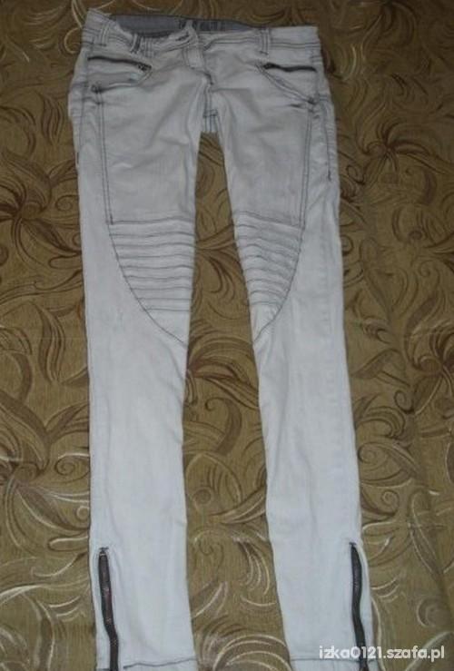 Spodnie bershka zip przeszycia
