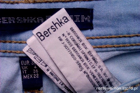 Spodnie bershka mega rurki
