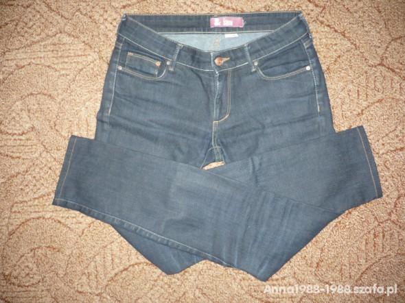 Spodnie Spodnie jeansowe rurki H&M r S stan idealny
