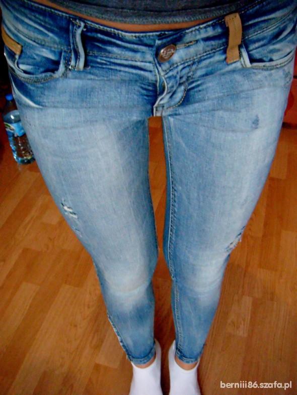Spodnie rurki skiny bershka stradivarius 34 XS zipy