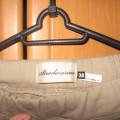bezowe spodnie stradivariusa na gumce
